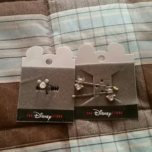 Mickey Mouse ring and barettes